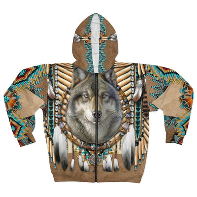 Spirit of the Wolf All Over Print Zip Hoodie