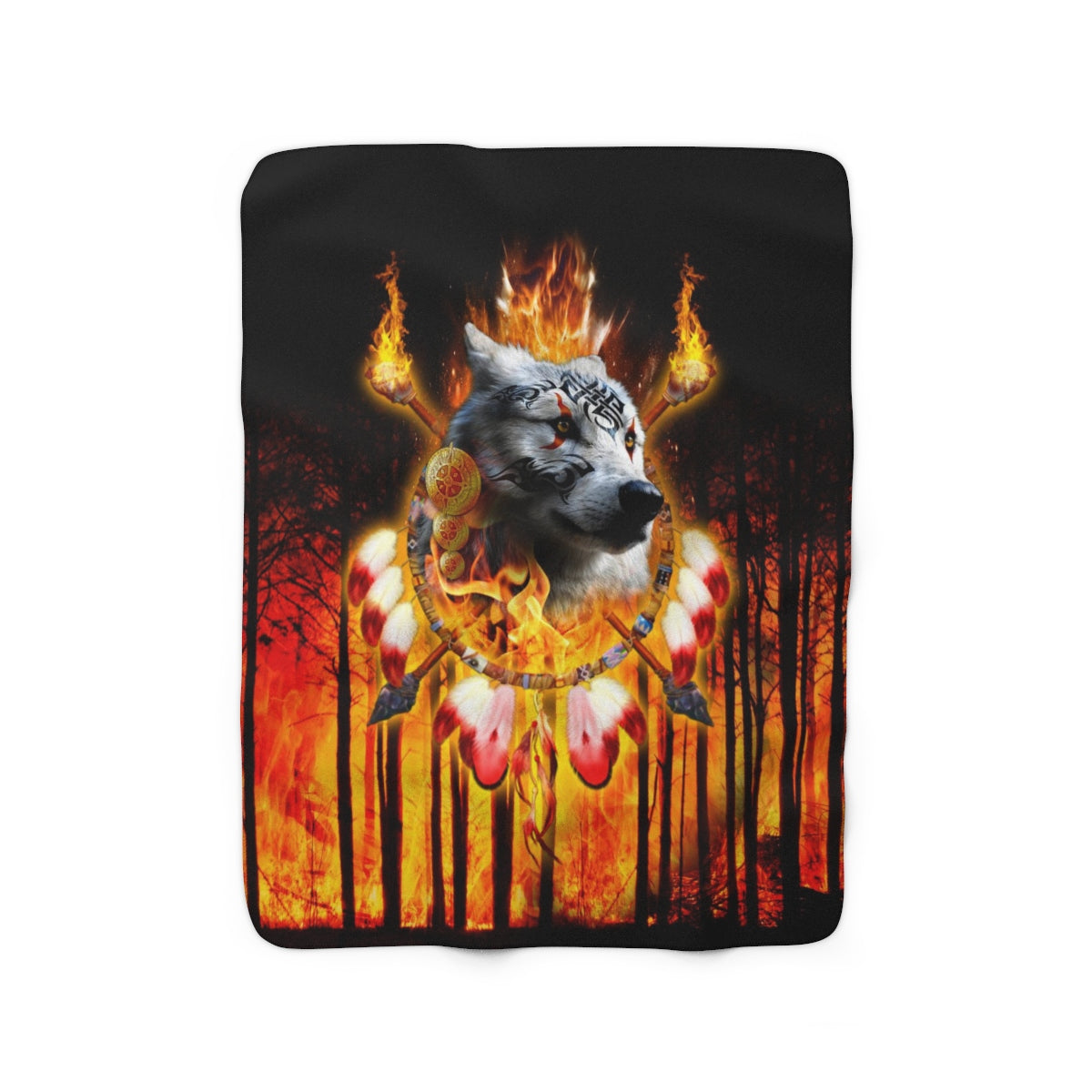 Fire Nation Chief 2 Sherpa Fleece Blanket