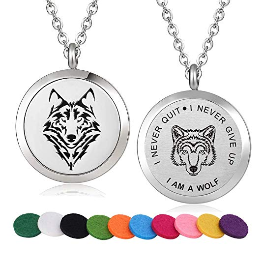 Wolf Spirit Locket Pendant