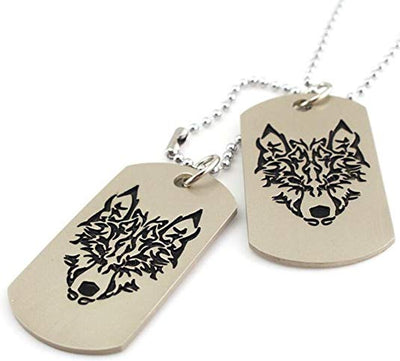 Wolf Totem Tag Necklace