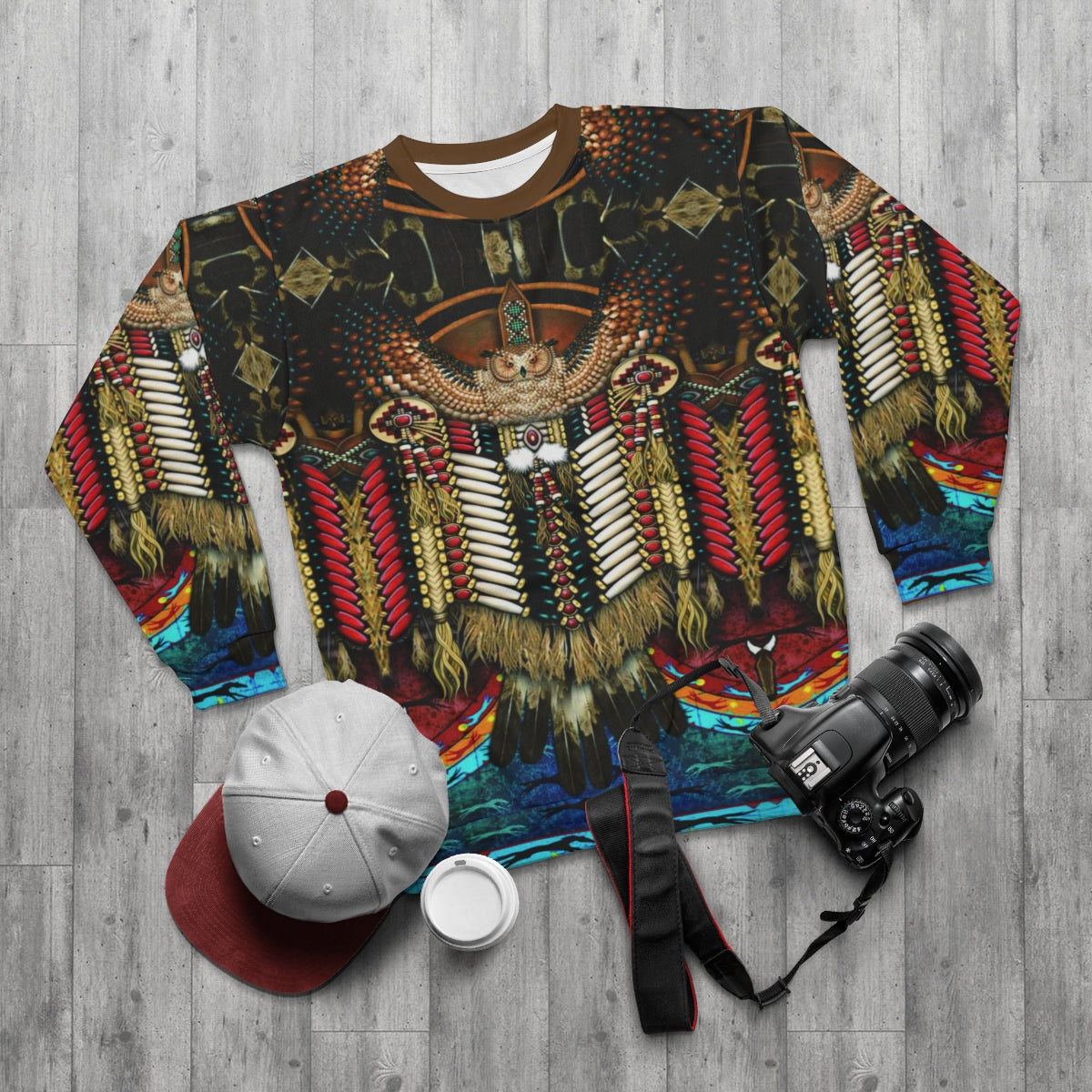 Wise Owl All Over Print Sweatshirt
