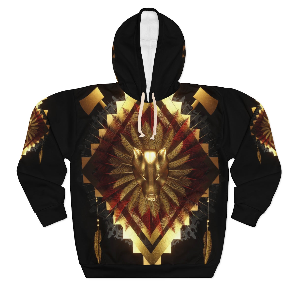 Spirit Wolf Warrior All Over Print Hoodie