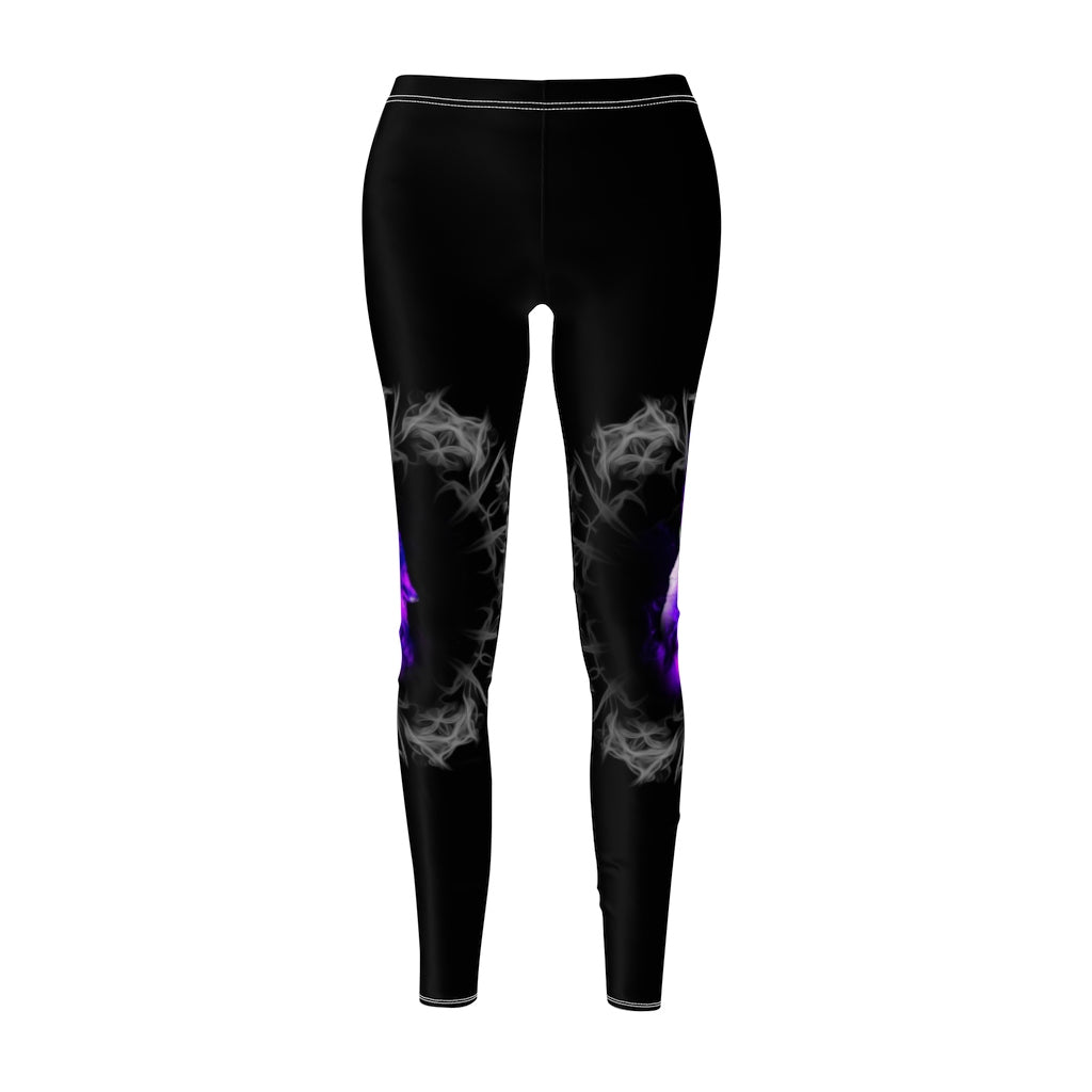 Purple Blazing All Over Print Leggings