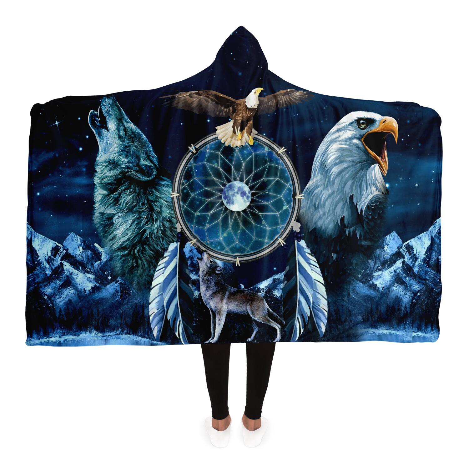 Spirit Animal Dreamcatcher Hoodie Blanket