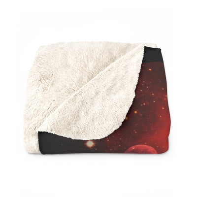 Guardian of Peace Black Sherpa Fleece Blanket