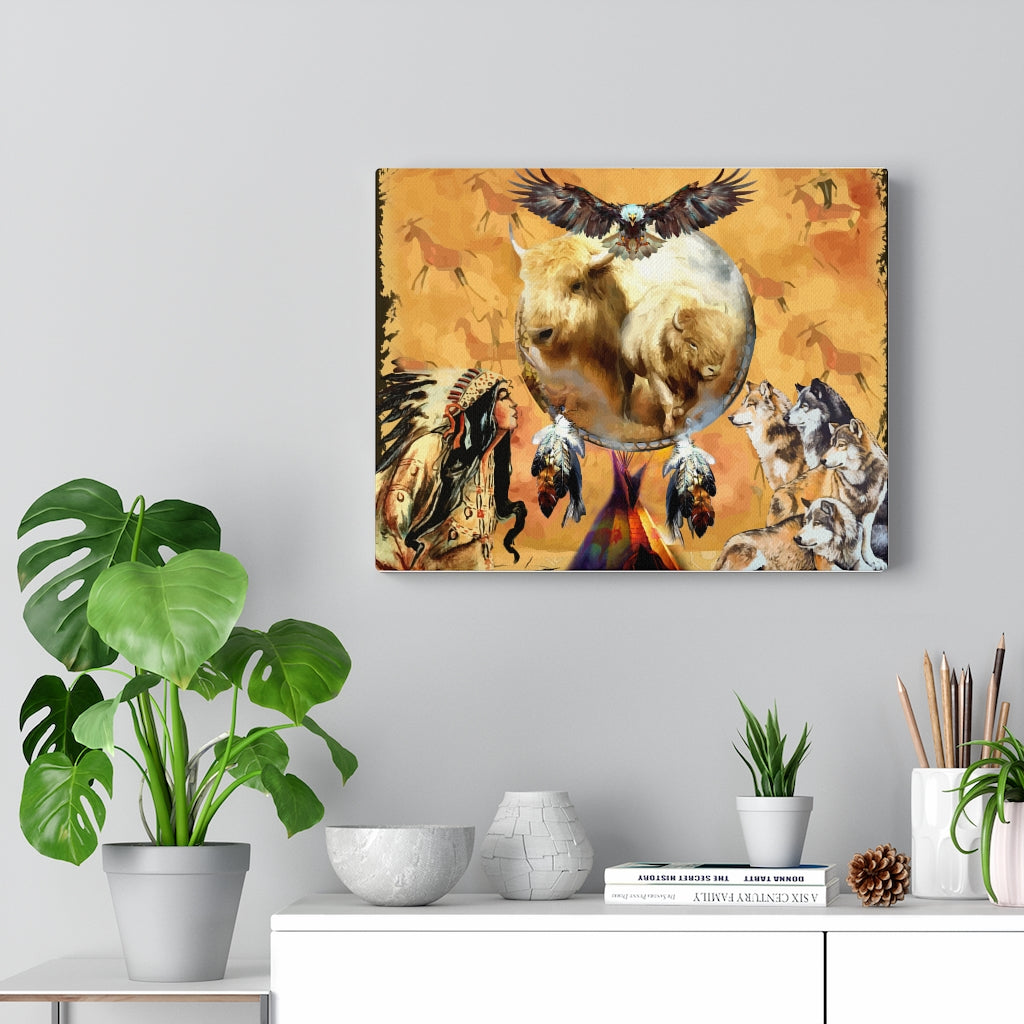 Totem Buffalo Canvas Gallery Wraps