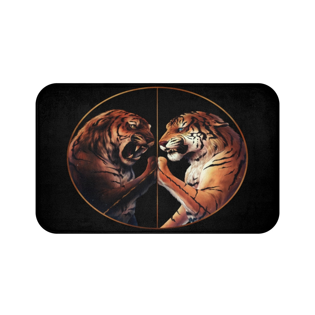 Peace Dark by Jojoes Art Bath Mat