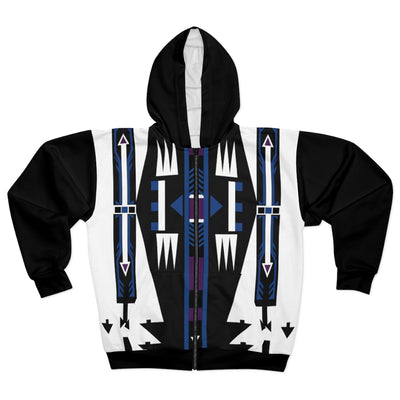 Path Finder All Over Print Zip Up Hoodie