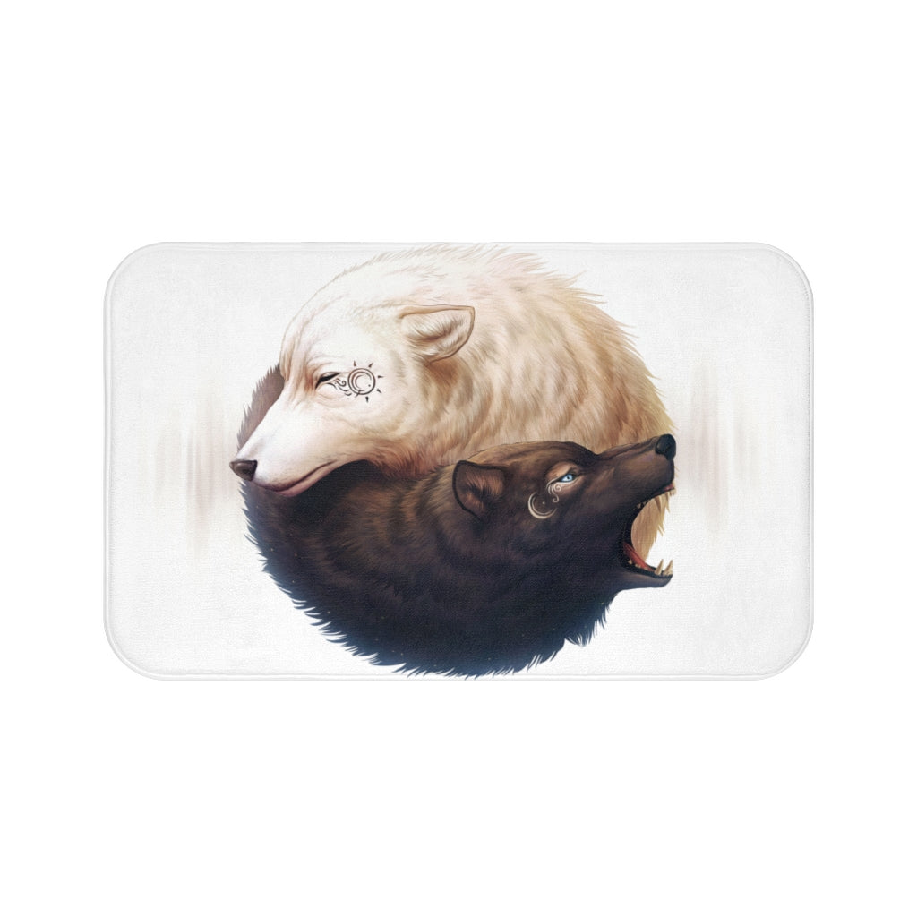 Yin and Yang by Jojoes Art Bath Mat