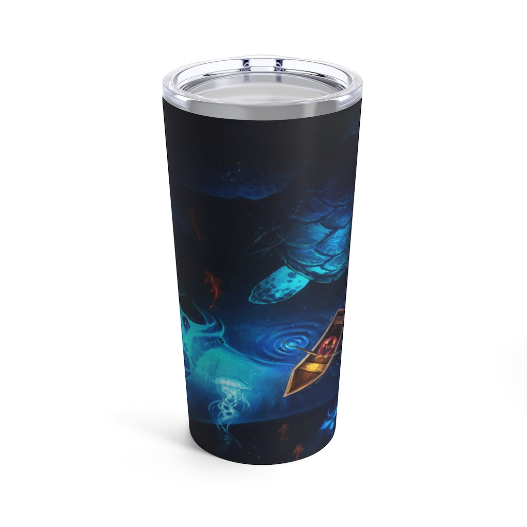 Night Fishing by Jojoes Art Tumbler