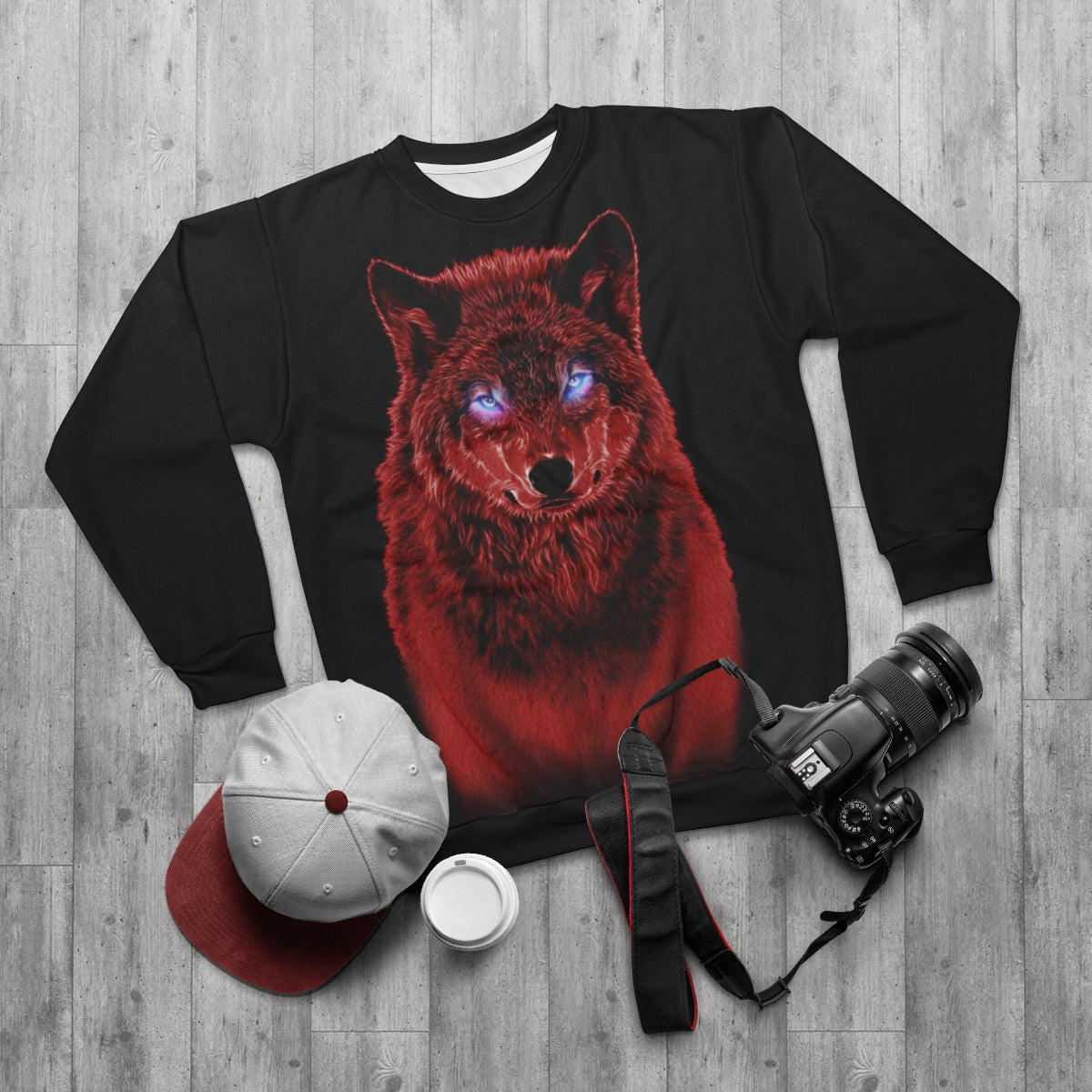 Brilliance Red All Over Print Sweatshirt