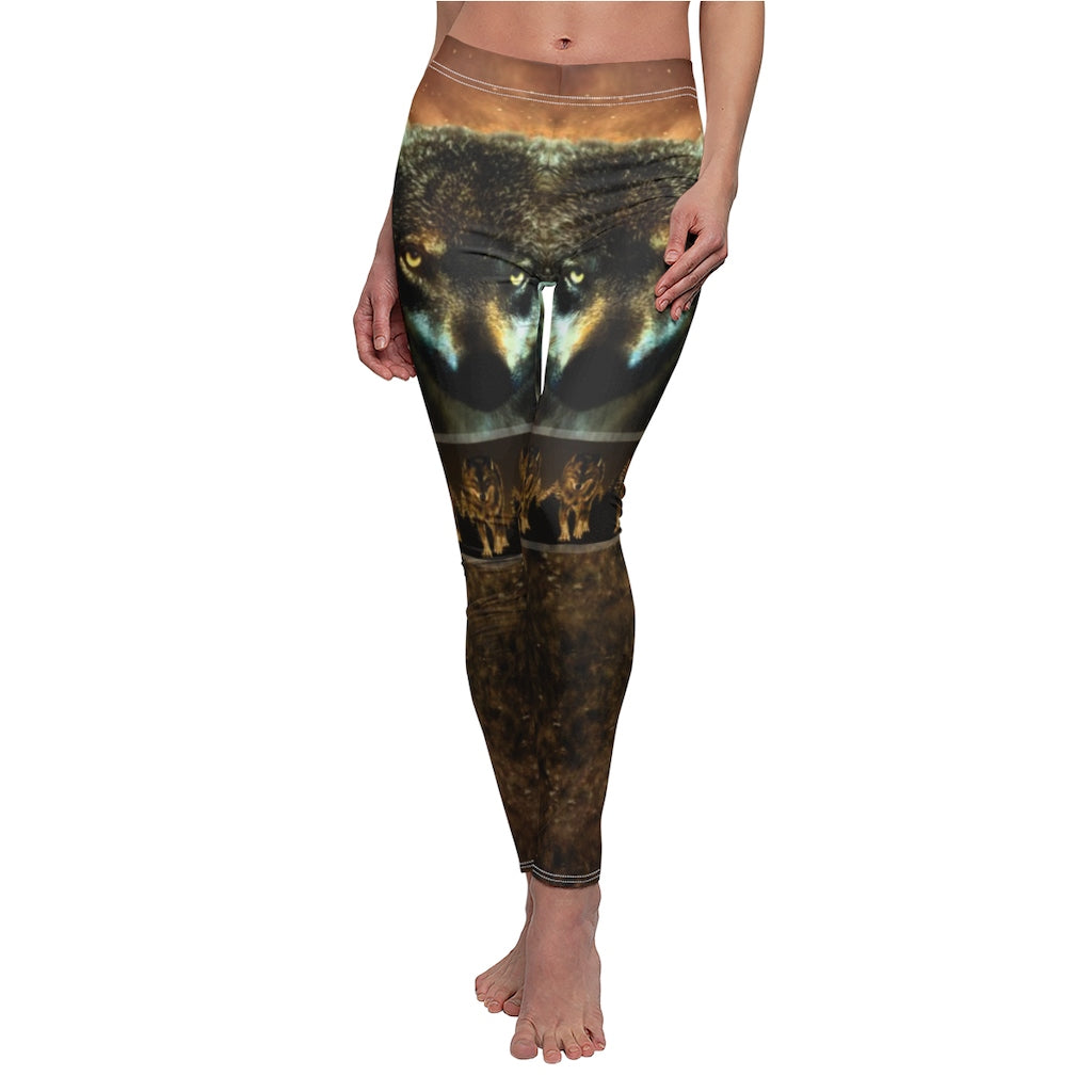 Wolf Brothers In Arms All Over Print Leggings