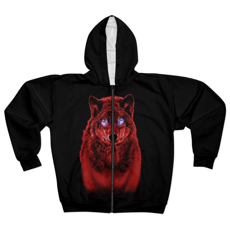 Brilliance Red All Over Print Zip Hoodie