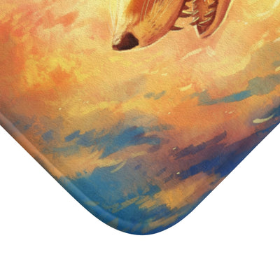 Fire Fox by Jojoes Art Bath Mat