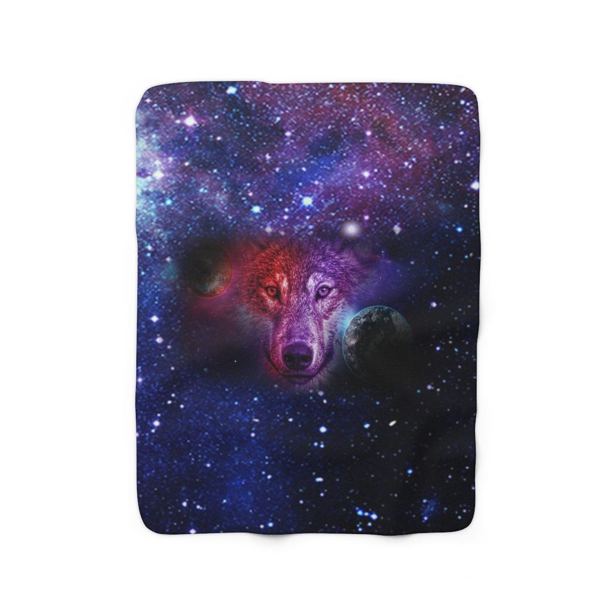 Dream Wolf Moon Sherpa Fleece Blanket