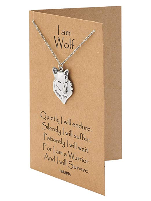 Inspirational Wolf Spirit Necklace