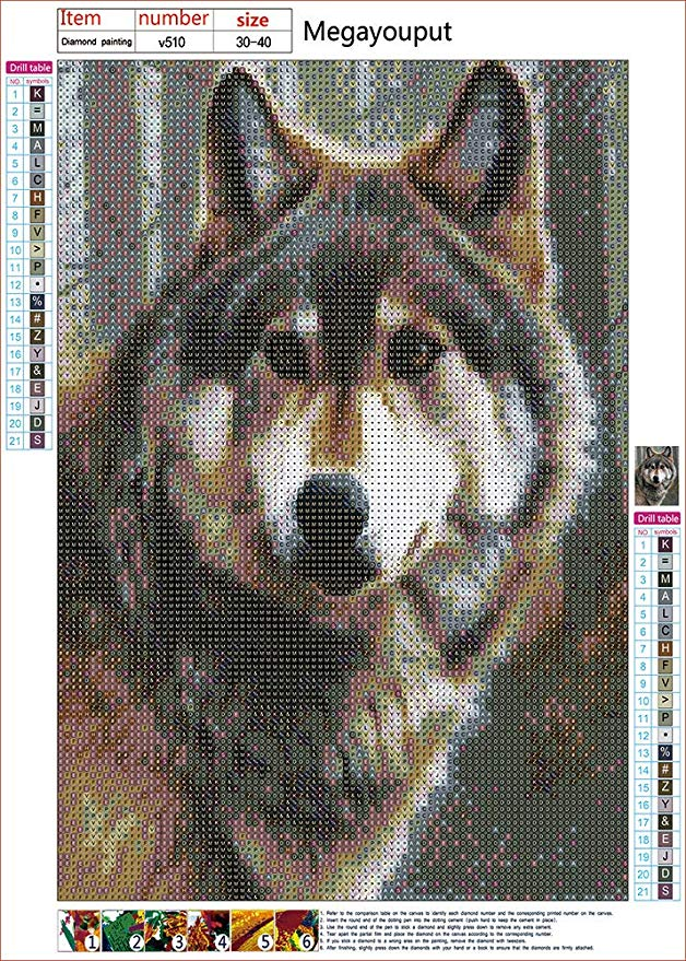 Timber Wolf DIY 5D Rhinestone Embroidery