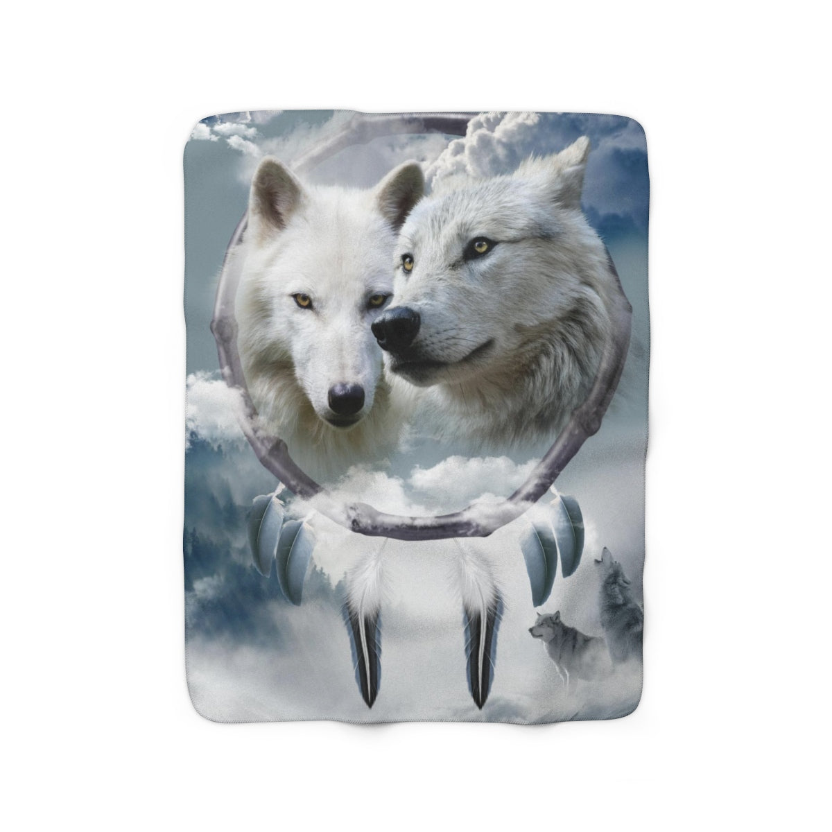 Clouds Love Sherpa Fleece Blanket