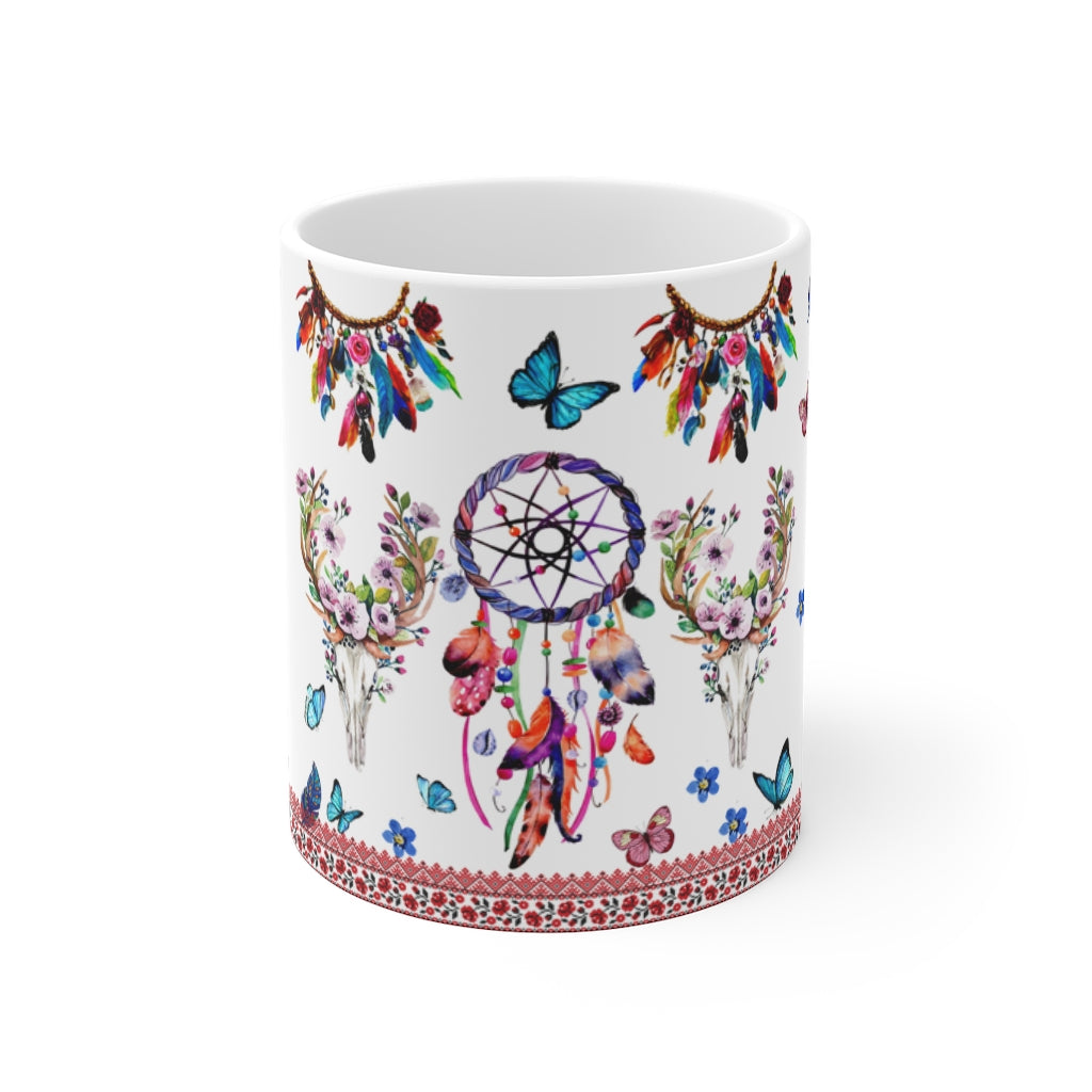 Floral Dreamcatcher Mug 11oz