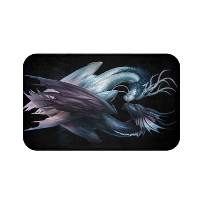 Yin and Yang Dragons Dark by Jojoes Art Bath Mat
