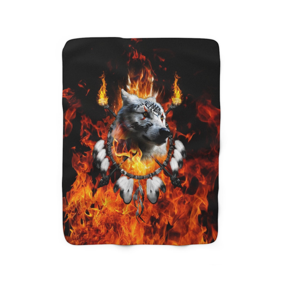 Fire Nation Chief 3 Sherpa Fleece Blanket