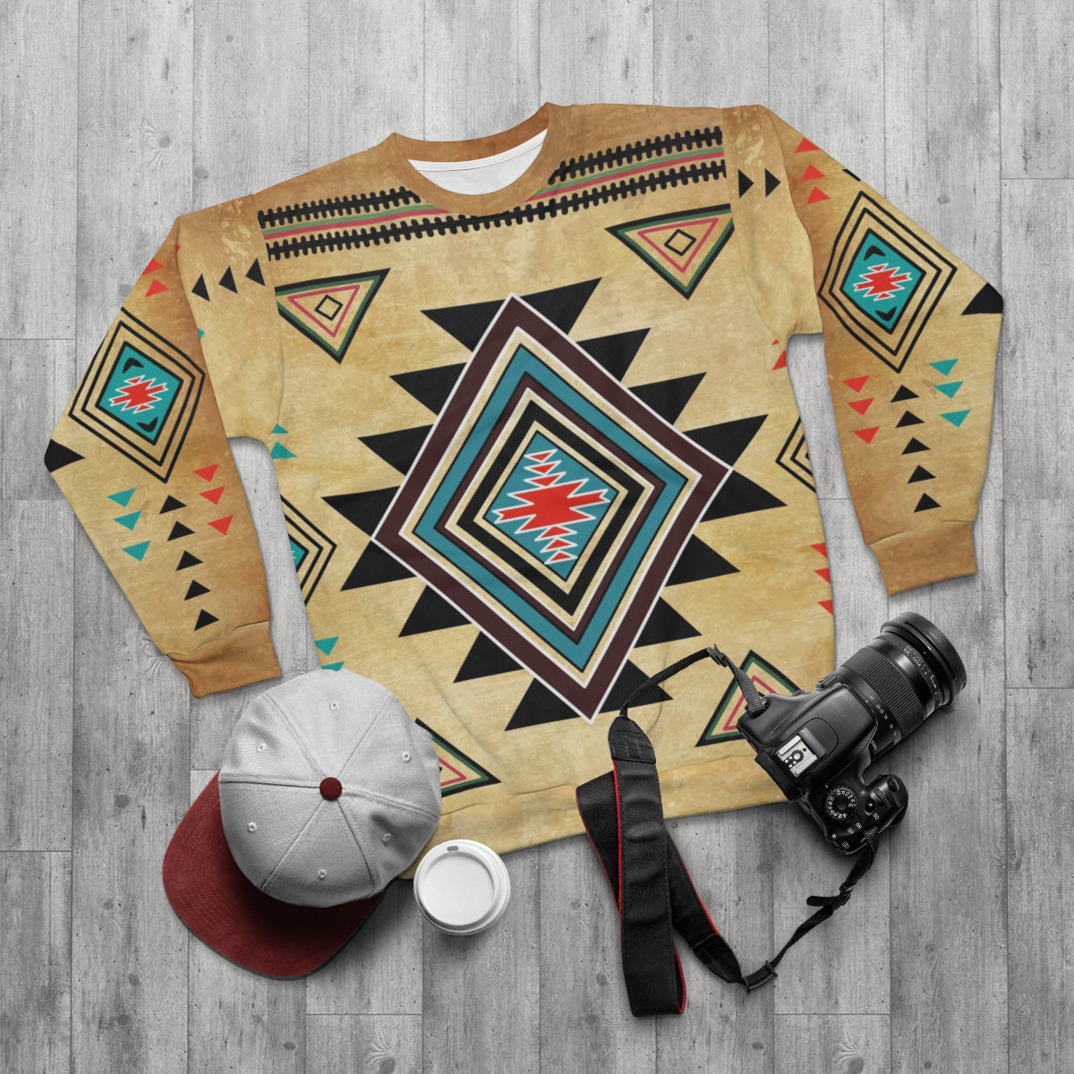 Native Inspired All Over Print Sweatshirt