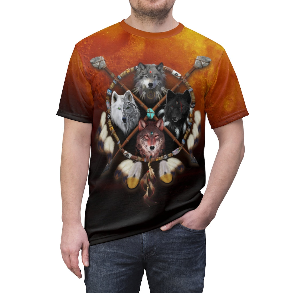 4 Wolves Warrior Dark All Over Print T-shirt