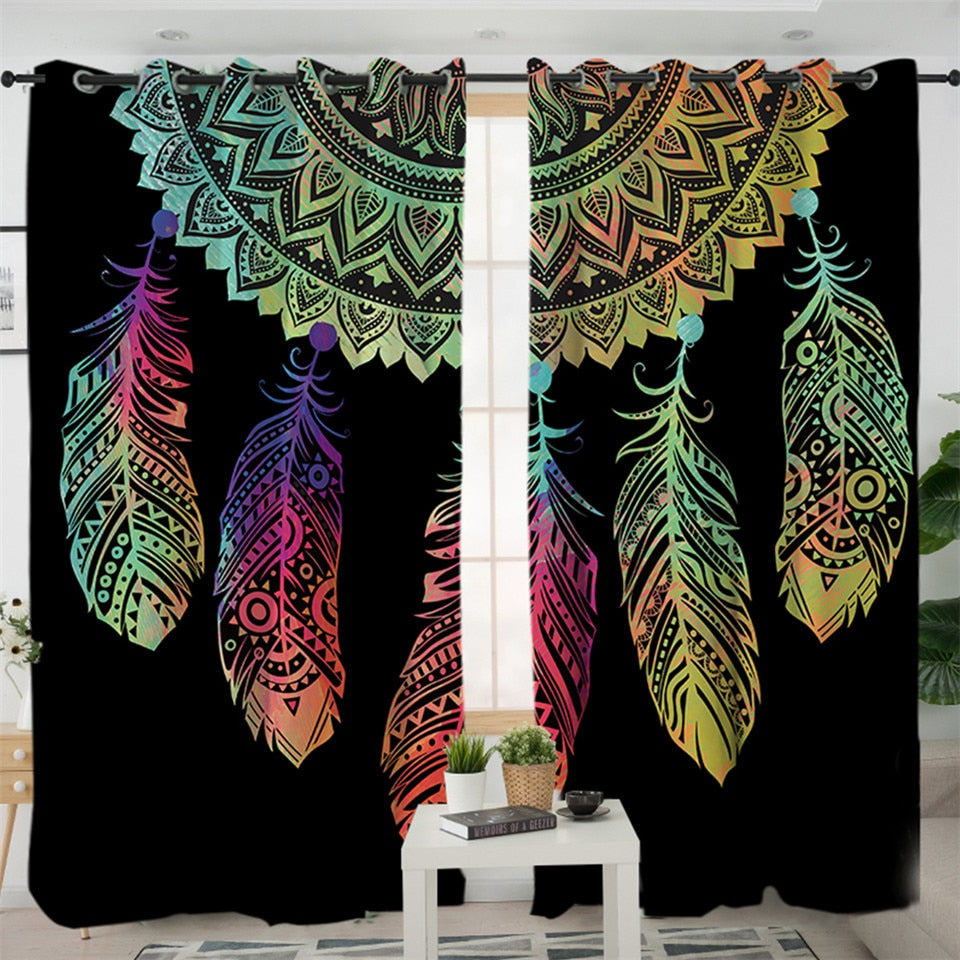 Colorful Dreamcatcher Curtains
