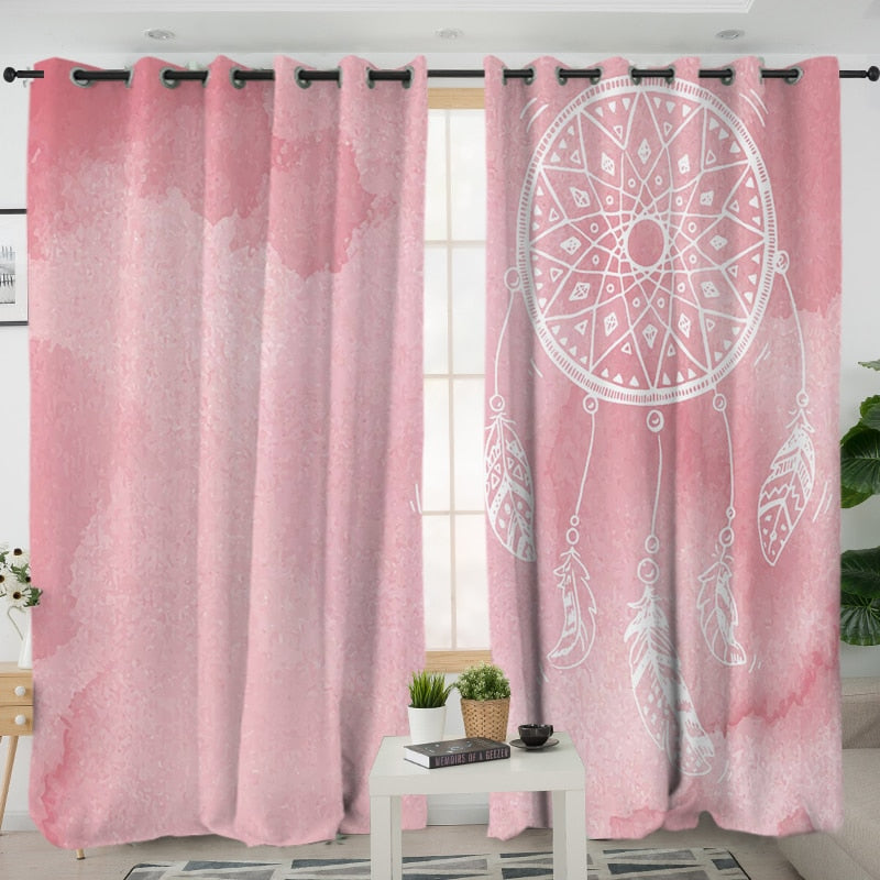 Watercolor Dreamcatcher Curtains