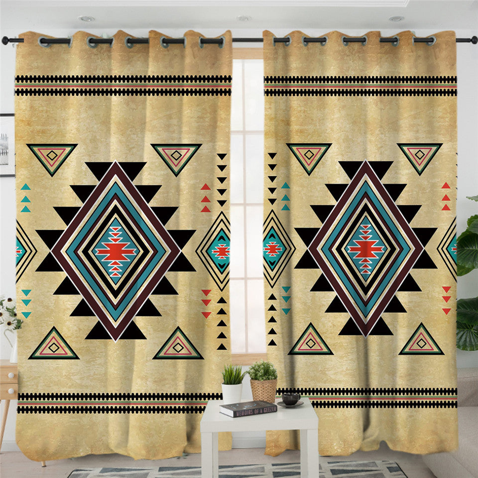 Geometric Native Curtains