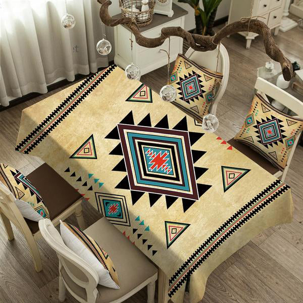 Native Abstract Rectangular Table Cloth