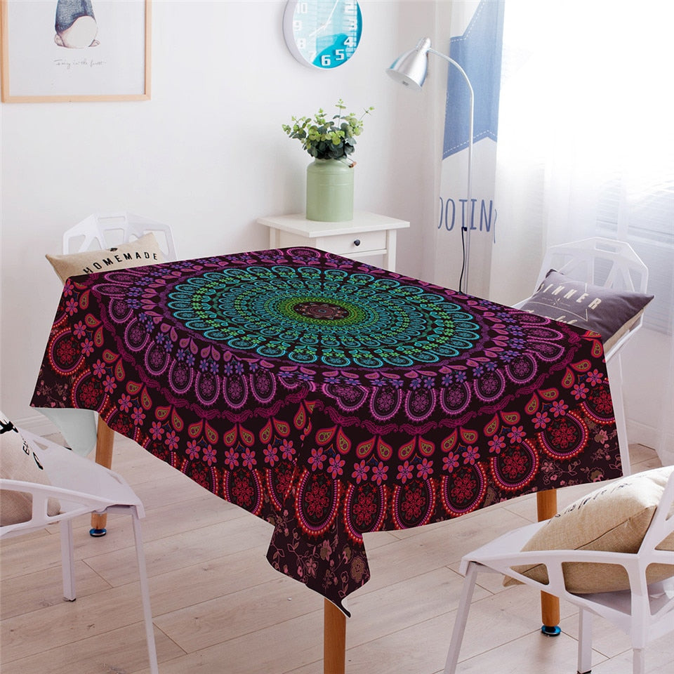 Mandala Rectangular Table Cloth
