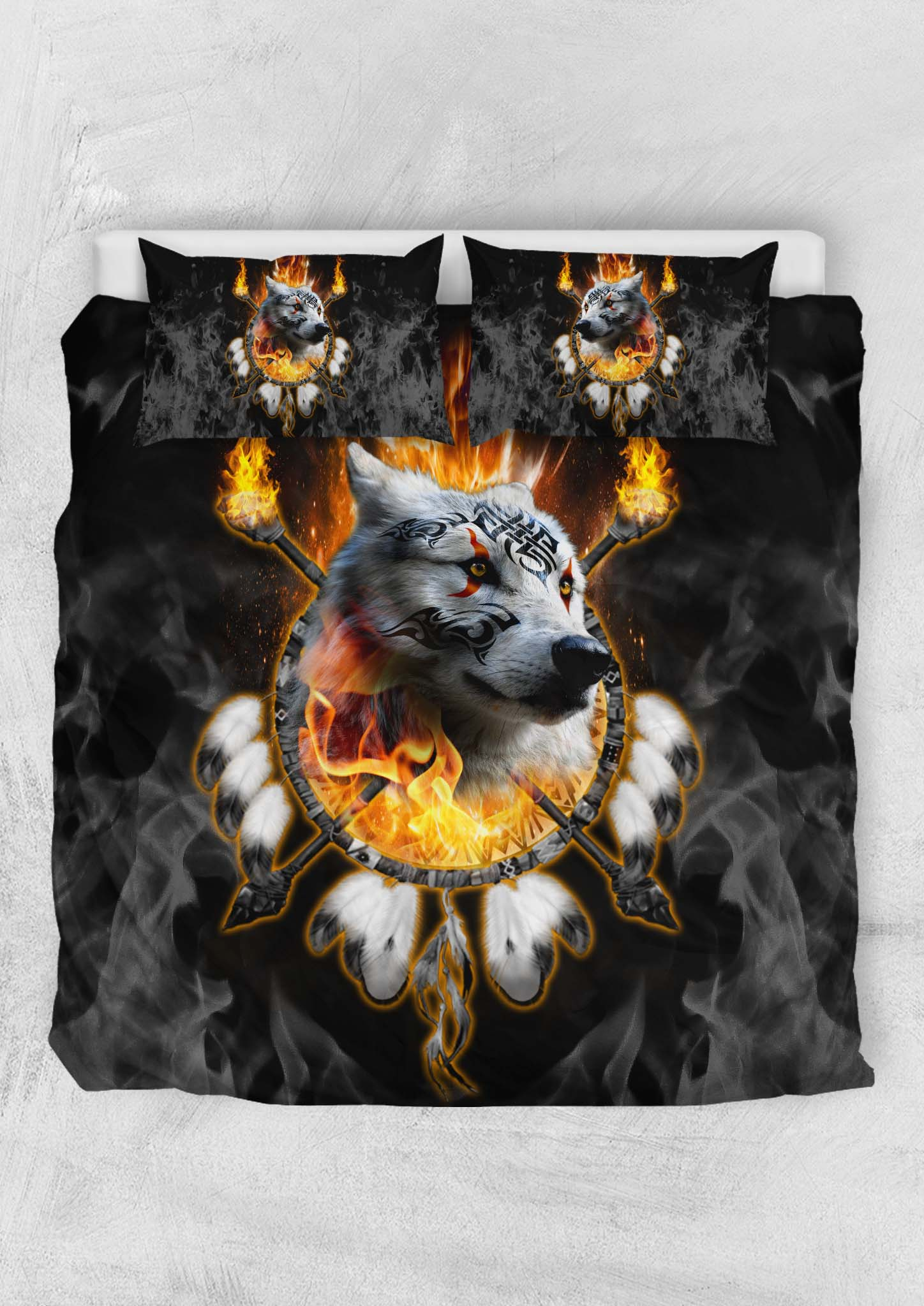 Fire Wolf Chief Bedding Set