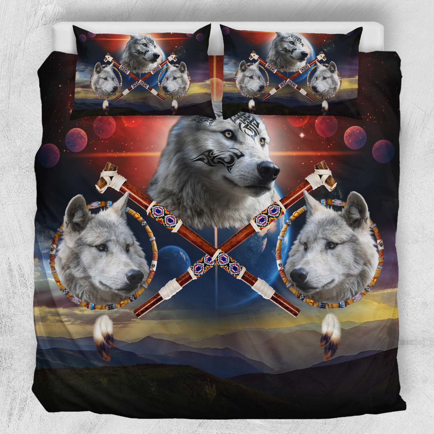 Guardians Of Peace Wolves Bedding Set