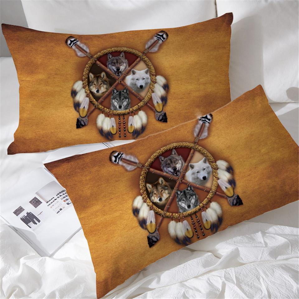 4 Wolves Pillowcases