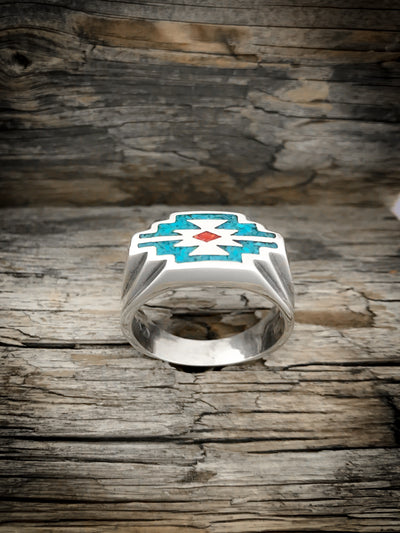 Native American Zia™ Statement Ring 925 Sterling Silver