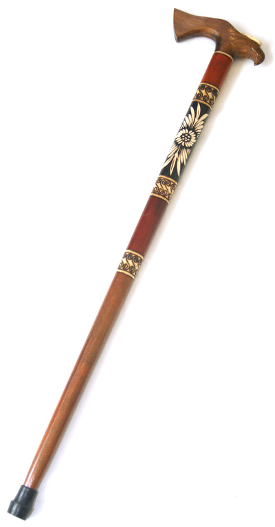 Dark Eagle Wooden Cane
