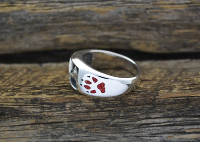 """Timber Wolf"" Ring With Personalization"