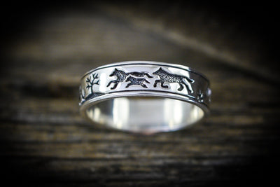 Band of Wolves™ Ring 925 Sterling Silver