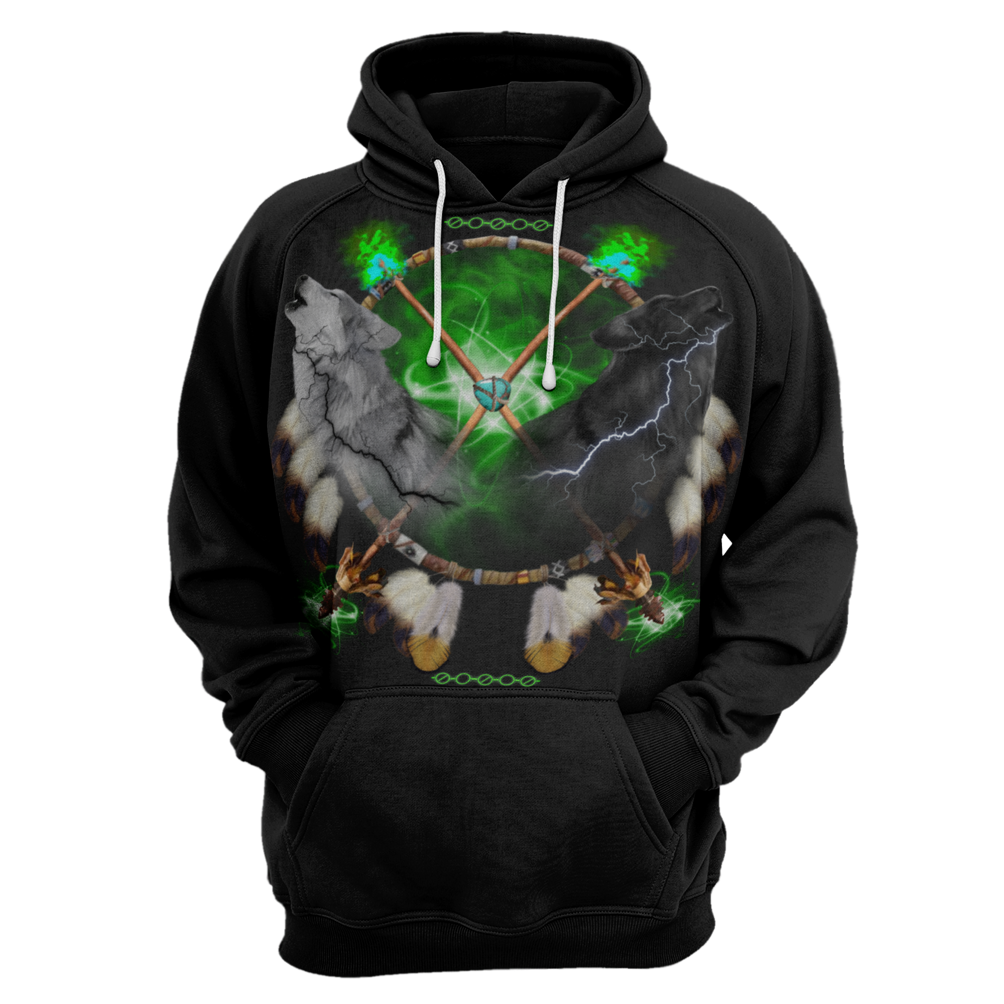 Day and Night Lightning Hoodie