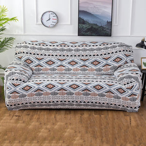 Elastic Geometric Sofa Cover