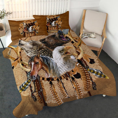 Totem Warriors Quilt Set