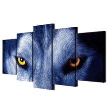 Load image into Gallery viewer, Wolf Eyes Group  Canvas 5pcs