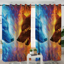 Load image into Gallery viewer, Fire and Ice by JoJoesArt Curtains 3D