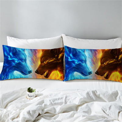 Fire and Ice 3D by JoJoesArt - 2pcs Pillowcase Set