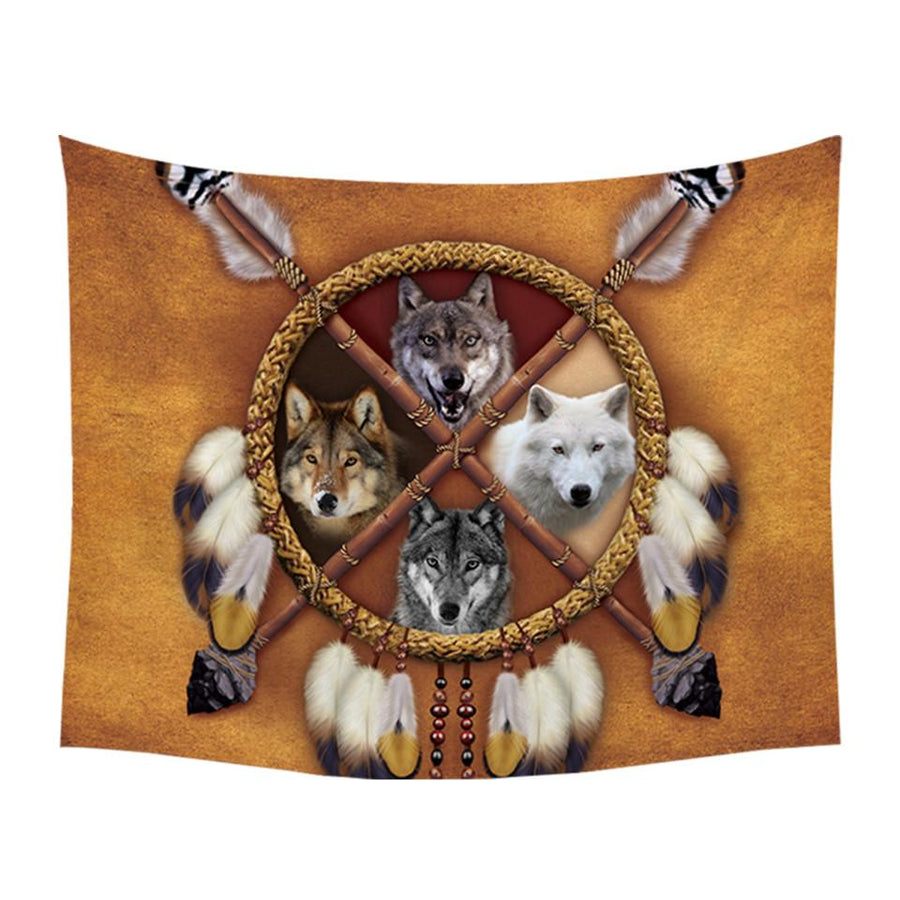 """4 Wolves"" Tapestry"
