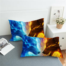 Load image into Gallery viewer, Fire and Ice 3D by JoJoesArt - 2pcs Pillowcase Set