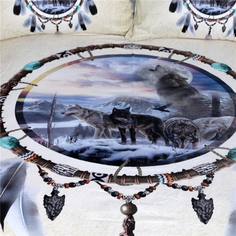 Dreamcatcher Wolves Bedding Set