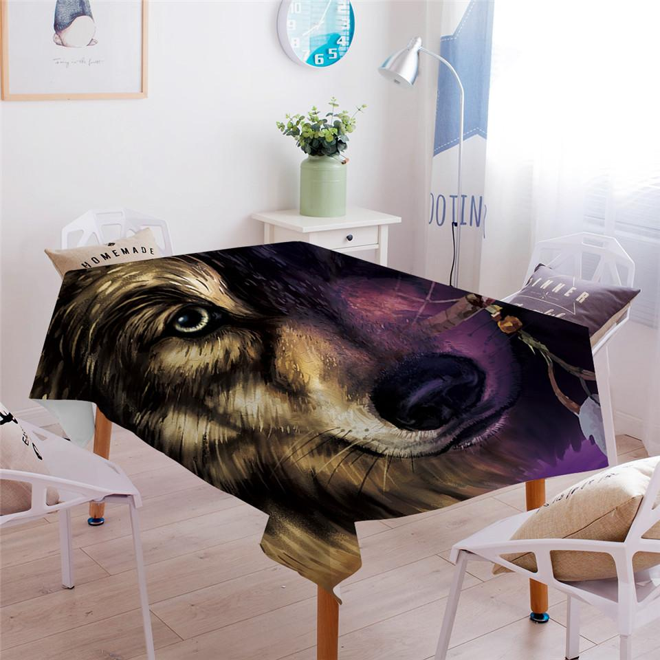 Wolf Dreamcatcher Dining Tablecloth