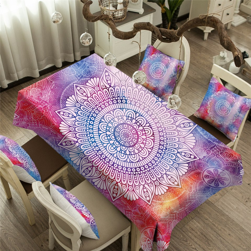 Bright Abstract Rectangular Table Cloth